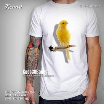 Kaos KENARI, Kaos BURUNG KICAU, Kaos 3D Burung Kenari, Kaos Gambar BURUNG, Kaos 3D, Kaos Kicau Mania 3D, Kaos 3D, Kaos 3D Umakuka, Kaos 3D Bagus, http://instagram.com/kaos3dbagus, WA : 08222 128 3456, LINE : KAOS3DBAGUS