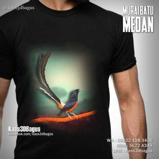 Kaos MURAI BATU MEDAN, Kaos KICAU MANIA 3D, Kaos Burung Murai, Kaos Burung Kicau, http://instagram.com/kaos3dbagus, Kaos 3D, Kaos 3D Umakuka, Kaos 3D Bagus, WA : 08222 128 3456, LINE : kaos3dbagus
