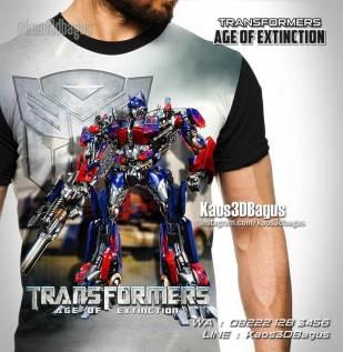 Kaos Anak, Kaos Karakter, Kaos Film Transformers, Kaos Robot, Kaos3D