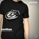 Kaos 3D Juventus Logo BLACK