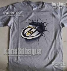 Kaos 3D Juventus Logo GREY - Kaos 3D Umakuka Murah Keren