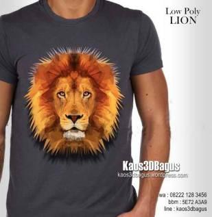 Kaos LOW POLY LION, Kaos SINGA, Kaos Kepala Singa, Kaos Macan, Kaos Harimau, Kaos 3D, Umakuka, Kaos 3D Bagus, http://instagram.com/kaos3dbagus, WA : 08222 128 3456, LINE : kaos3dbagus