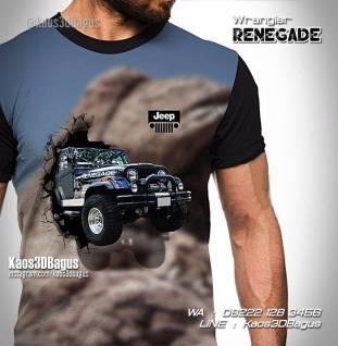 Wrangler JEEP, Renegade Jeep, Kaos Mobil Renegade, CJ7 Tshirt, Kaos3D, Kaos 3 Dimensi, Kaos Klub Jeep Indonesia
