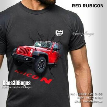 Kaos RUBICON 3D, Kaos Gambar JEEP RUBICON, Kaos RED Rubicon, Kaos 3D Gambar Jeep, Kaos OFFROAD INDONESIA, Kaos Tema OFFROAD, Kaos 3D Umakuka, Kaos 3D Bagus