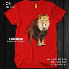 Kaos LION, Kaos 3D Gambar SINGA, Kaos Raja Hutan, Kaos Animal Lover, http://instagram.com/kaos3dbagus, WA : 08222 128 3456, LINE : kaos3dbagus