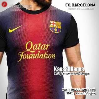 Kaos BARCA Qatar Foundation, Kaos BOLA, Barcelona Uniform, Barca Jersey