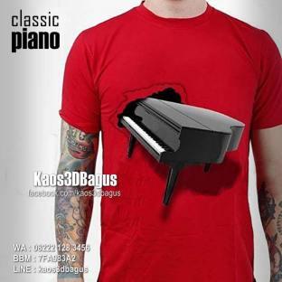Kaos Gambar PIANO KLASIK, Kaos Classic Piano, Instrumen Musik Klasik