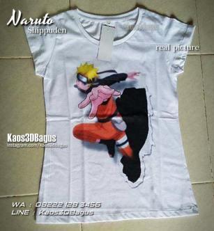 Kaos Cewek Naruto, Kaos3D, real picture, Kaos Film Naruto