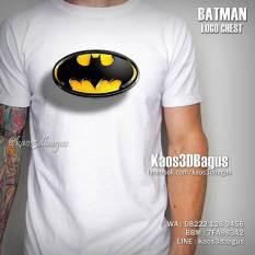 Kaos 3D, Batman Logo, Kaos SUPERHERO, https://www.facebook.com/kaos3dbagus, LINE : @kaos3dbagus