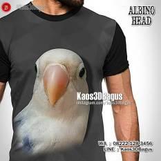 Lovebird Albino Mata Hitam, Kaos LOVEBIRD, Lovebird Mania, Kaos Klub Burung, Kaos3D, Kaos Kicau Mania