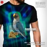 Blue Masked Lovebird, Kaos Burung Lovebird, Pusat Kaos Burung, Kaos3D
