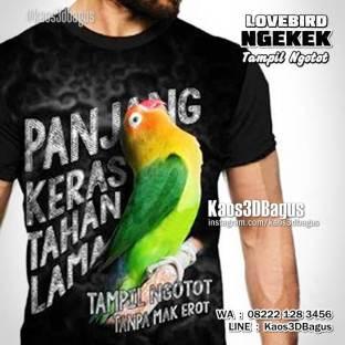 Kaos3D, Kaos BURUNG, Penggemar Lovebird, Kaos LOVEBIRD