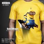 Kaos 3D MINIONS, Kaos Minion Bob Kevin, Kaos Ultah Anak MINION, Kaos Despicable Me, Kaos 3 Dimensi, Kaos 3D Bagus, Kaos 3D Umakuka