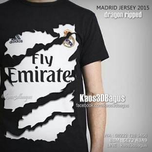 Kaos 3D JERSEY MADRID, Kaos REAL MADRID 3D, Kaos 3D BOLA, Kaos Bola Liga Spanyol, Kaos3D, Kaos 3D Umakuka, Kaos 3D Bagus