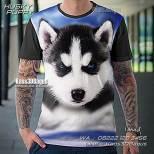 Kaos Siberian Husky, Kaos Anjing, Dog Lover, Penyayang Anjing, Animal Lover