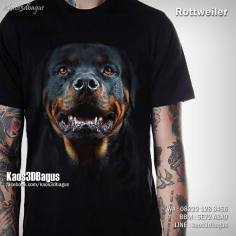 Kaos ROTTWEILER, Kaos Anjing Rottweiler, Kaos 3D Anjing Ras, Kaos Gambar Anjing, Kaos3D, Kaos 3D Bagus, Umakuka, Kaos Anjing Petarung