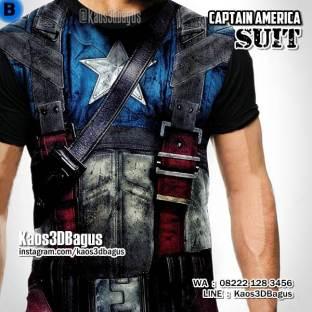 Captain America Suit, Kaos KOSTUM CAPTAIN AMERICA, Kaos ULTAH ANAK, Kaos Hadiah Ulang Tahun, Kaos3D, Kaos3DBagus, Kaos SUPERHERO, The AVENGERS