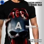 Kaos CAPTAIN AMERICA CIVIL WAR, Captain America VS Iron Man, Kaos SUPERHERO, KAOS3D, Kaos3DBagus