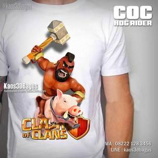 Kaos COC HOG RIDER, Kaos 3D, Kaos Clash Of Clans, Kaos Tokoh COC, Umakuka, https://www.facebook.com/kaos3dbagus, WA : 08222 128 3456, LINE : @kaos3dbagus