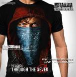 GROSIR KAOS - Kaos METALLICA - Kaos Thrash Metal - Kaos3D - Through The Never - Kaos Rock Band