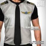 GROSIR KAOS - Kaos PILOT - Baju Pilot - Kaos3D - Pilot Uniform - Dasi Suit