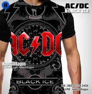 Kaos ACDC Black Ice - Kaos ROCK BAND - Kaos3D GROSIR