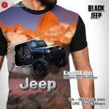 Kaos JEEP - Kaos3D - Black Jeep - Offroad - Klub Mobil Jeep Indonesia