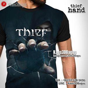 Kaos TANGAN - Kaos3D - THIEF HAND - Kaos3DBagus