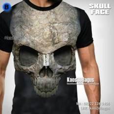 Kaos TENGKORAK - Kaos 3D - Skull Face FPB