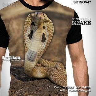 Kaos SNAKE LOVER, Kaos Gambar COBRA, King Cobra Snake, Kaos ULAR, Kaos 3 Dimensi