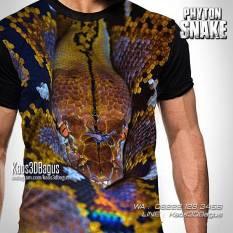 Kaos Gambar Ular Phyton, Phyton Snake, Reptil Mania, Kaos Reptil Indonesia