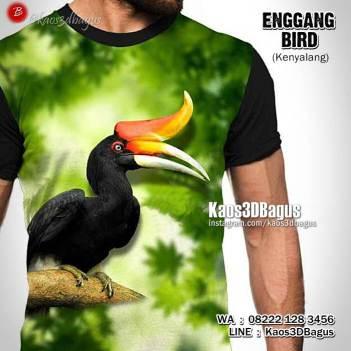 Kaos Gambar BURUNG, Panglima Burung, Kaos BURUNG DAYAK, Kaos Gambar Kenyalang, Kaos3DBagus