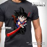Kaos 3D Dragon Ball, Gohan, Son Goku, Super Saiyan, Kaos Animasi Dragon Ball Z