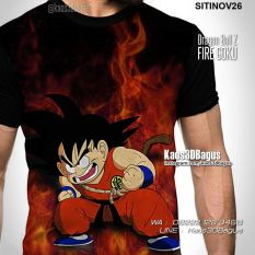 Kaos DRAGON BALL Z - Son Goku Fire - Kaos 3D Animasi Dragon Ball