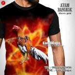 Kaos AYAM BANGKOK Klawu Geni, Kaos Gambar Ayam Aduan, Kaos Ayam Jago, Kaos3D