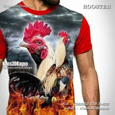 Kaos Ayam Bangkok, Kaos Gambar Ayam, Rooster