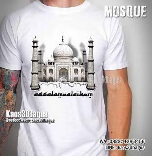 Kaos Gambar Masjid, Kaos Mesjid, Kaos Muslim, Assalamualaikum, Kaos3D, Kaos Religi