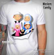 Kaos Muslim, Kaos3D, Kaos3DBagus, Keluarga Muslim