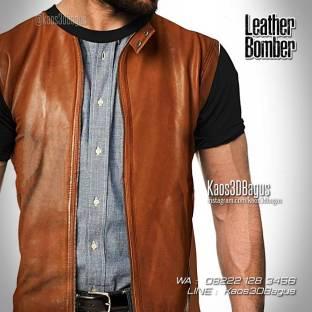 Kaos Dugem Keren, Kaos 3 Dimensi Gambar Jaket Kulit, Leather Jacket 3D Tshirt
