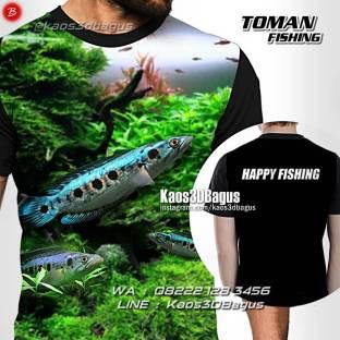 Kaos Tema Mancing, Toman Fishing, Kaos3D
