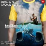Kaos Sea Fishing, Kaos Tema Memancing, Kaos3D