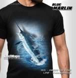 Kaos Tema Memancing, Kaos3D, Kaos Klub Mancing, Mata Pancing, Sea Fishing, Kaos Ikan Marlin