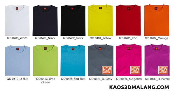 Jenis-jenis warna Kaos Polos - Kaos 3D Malang