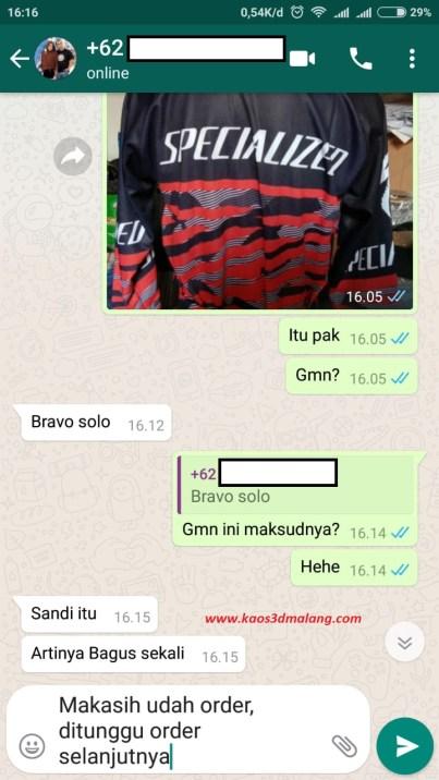 Testimoni Kaos 3D Malang - April 2019