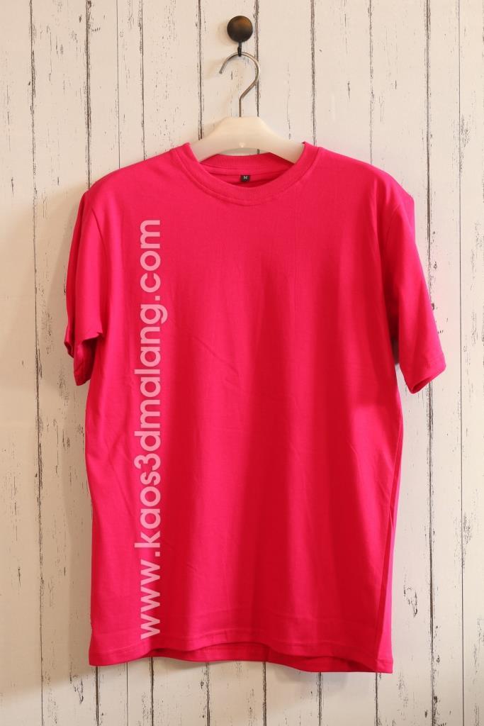 Kaos Polos Warna Pink Fanta