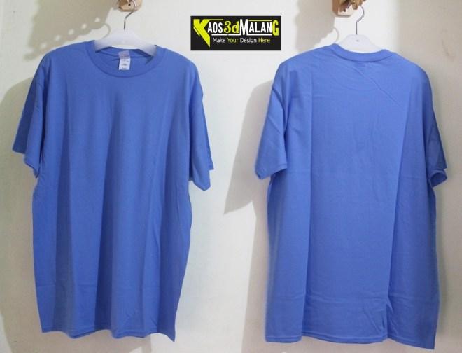 Kaos Polos Warna Biru Muda