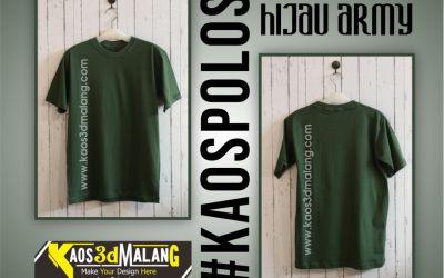 Kaos Polos Warna Hijau Army