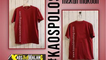 Kaos Polos Merah Maroon