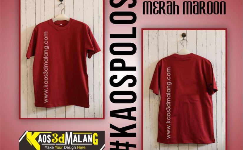 Kaos Polos Warna Merah Maroon