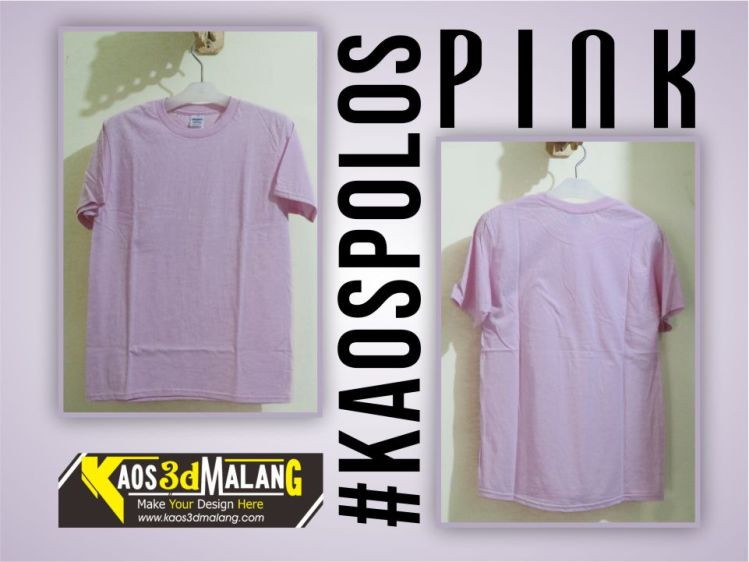 Kaos Polos Warna Pink